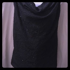 Alfred Angelo size 24 formal sparkly black blouse